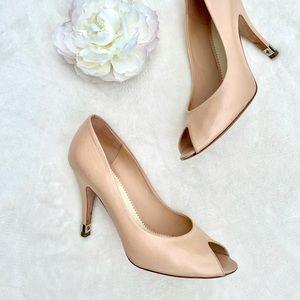 Authentic CHANEL peep toe heels